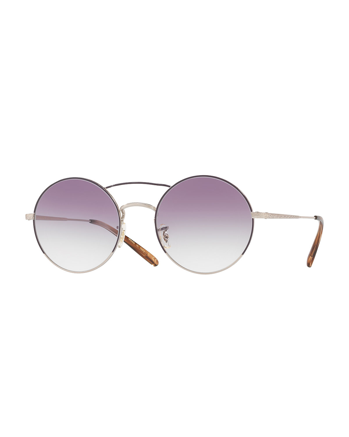 d23ab53f0ce Oliver Peoples Nickol Round Mirrored Sunglasses