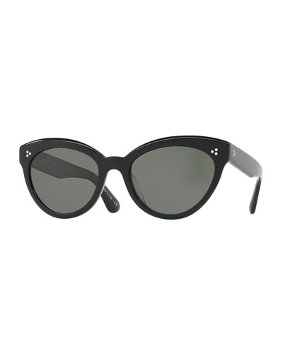 Roella Polarized Cat-Eye Sunglasses, Black