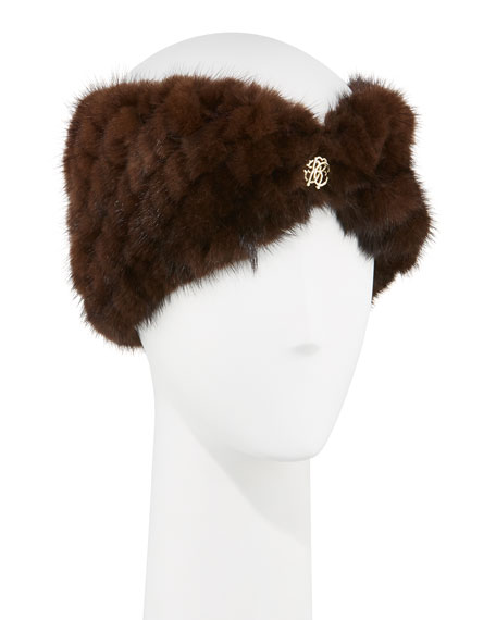 Fur Jewel Headband