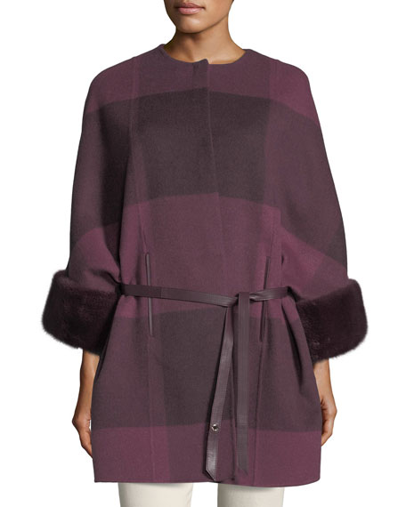 Loro Piana Upper East Belted Cashmere Jacket w/