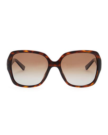 Diorissimo 1N Square Sunglasses, Havana