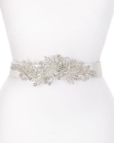 Venus Long-Jewel Belt, White