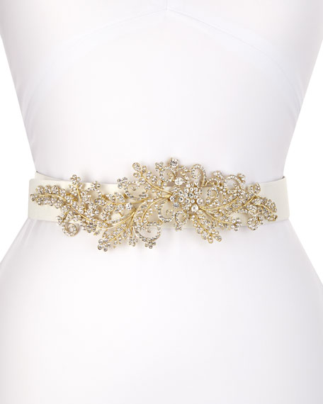 Venus Long-Jewel Belt, White