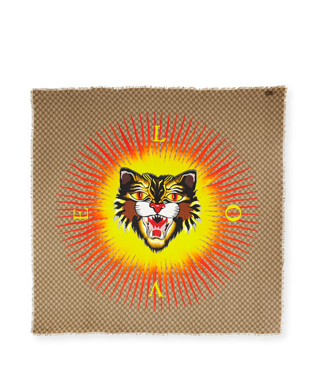 GG Sun Angry Cat Shawl, Beige