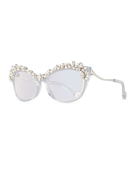 Li'L Tears of the Moon Optical Frames, White