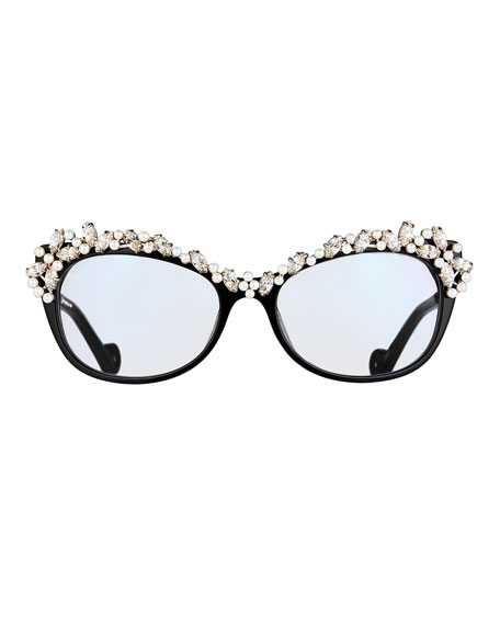 Li'L Tears of the Moon Optical Frames, Black
