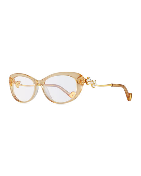 dear ling ling cat eye optical frames beige