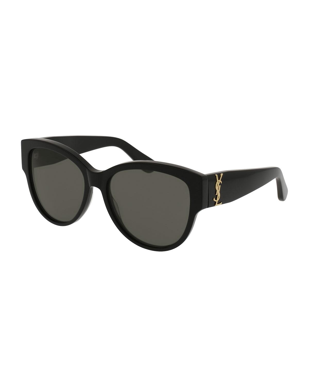 2da91e9d2e8 Saint Laurent Monochromatic Cat-Eye Sunglasses