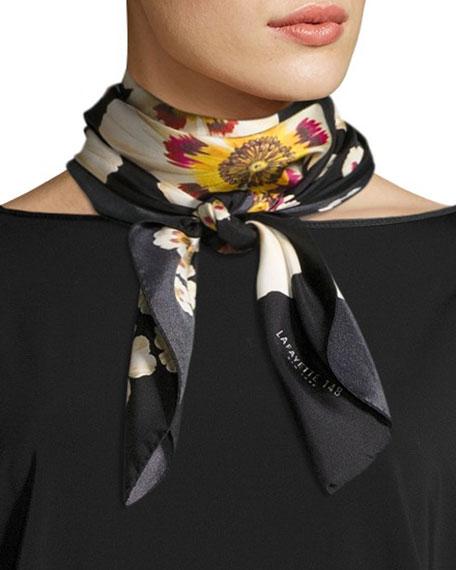 Lafayette 148 New York Artful Floral Silk Scarf,