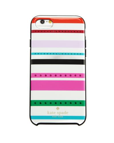 fiesta jeweled striped iphone 7 case, cream/multi