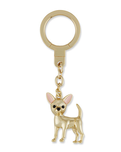 chihuahua golden key fob, multi