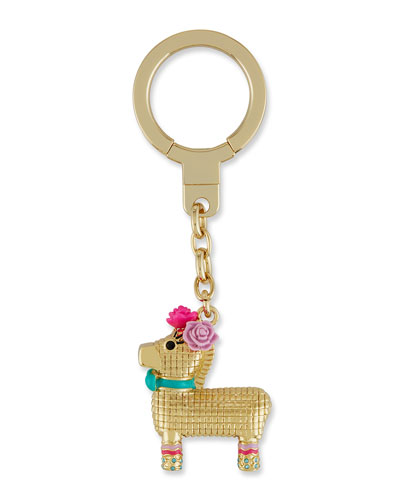 penny the piñata jeweled key fob, multi