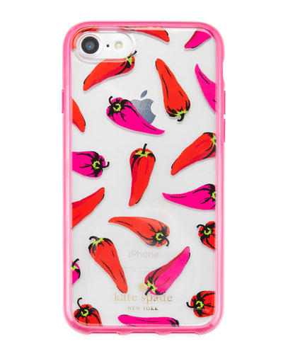 hot pepper iPhone 7 case, black