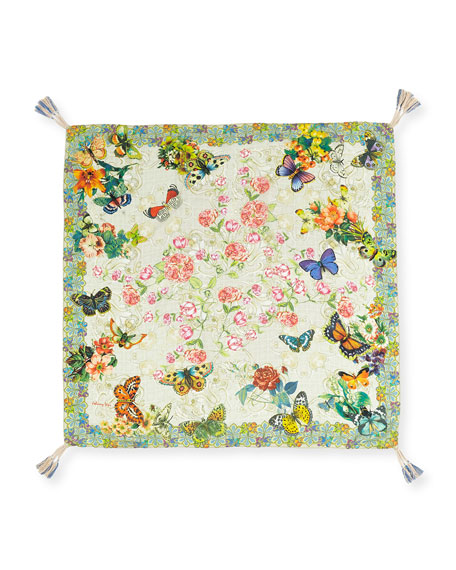 Holly Printed Silk Scarf, Multi