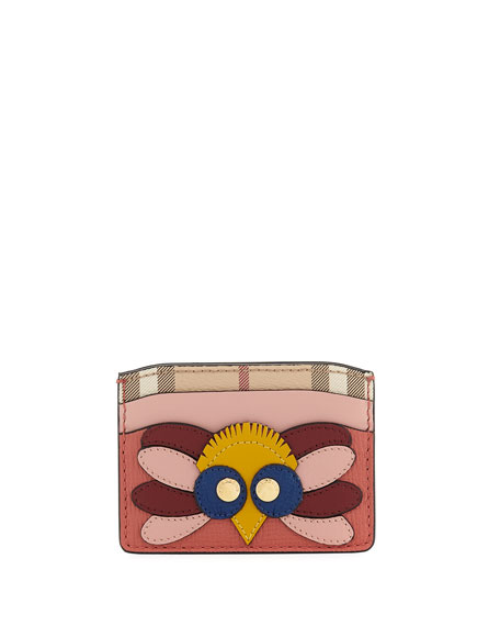 Burberry Izzy Owl Leather Card Case