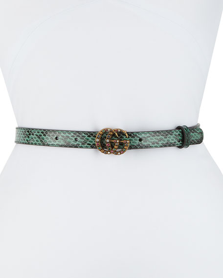 Gucci Jewel GG Snakeskin Belt