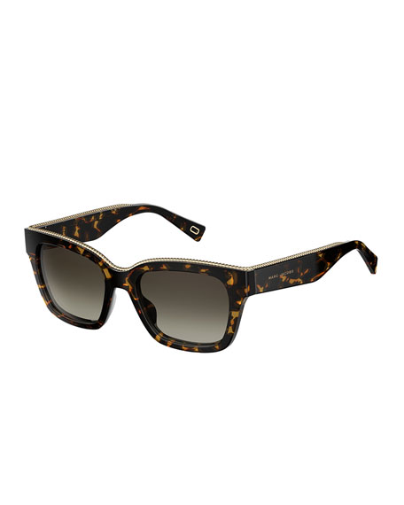 Marc Jacobs Twist Square Sunglasses, Dark Havana