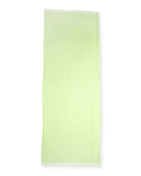 Organic Linen Gauzy Dots Scarf, Light Green