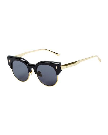 Semi Rimless Sunglasses  chloe milla square semi rimless sunglasses