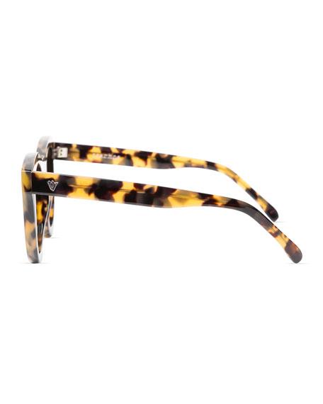 Trachea Monochromatic Butterfly Sunglasses, Brown Havana