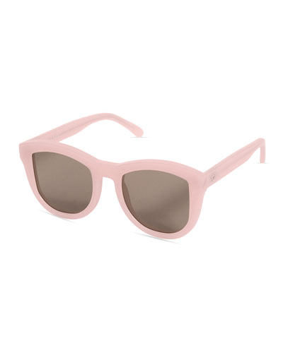 Trachea Monochromatic Butterfly Sunglasses, Pink/Brown