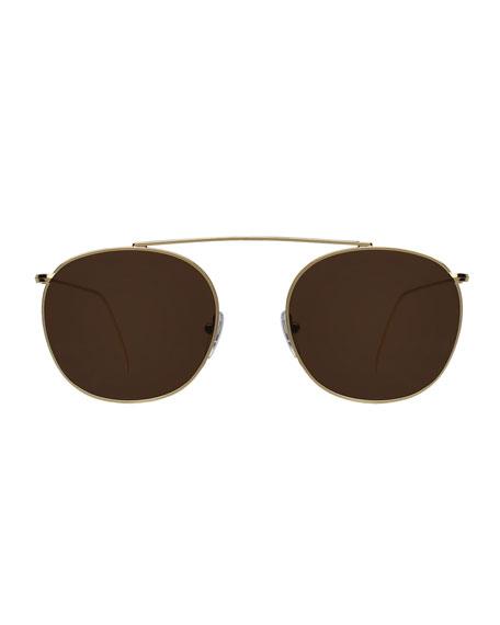 Illesteva Mykonos II Stainless Steel Aviator Sunglasses