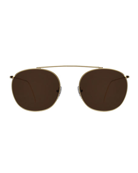 Mykonos II Stainless Steel Aviator Sunglasses