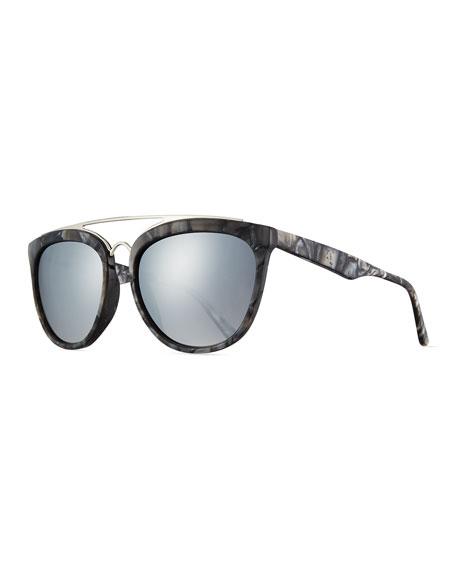burberry sport sunglasses 1mrn  Smoke X Mirrors Volunteers Square Metal-Bridge Sunglasses