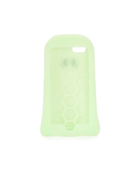 Image 2 of 2: Glow-in-the-Dark Ghost iPhone 7 Case, Bright Green