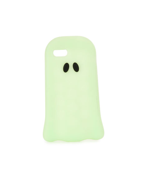 Image 1 of 2: Glow-in-the-Dark Ghost iPhone 7 Case, Bright Green