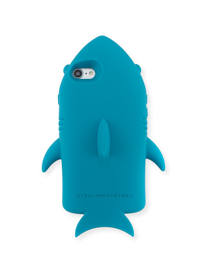 Shark Silicone Phone Case, Teal