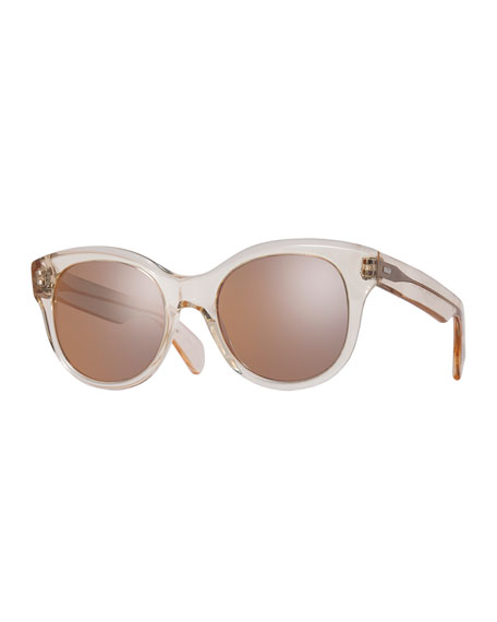 Jacey Mirrored Transparent Sunglasses