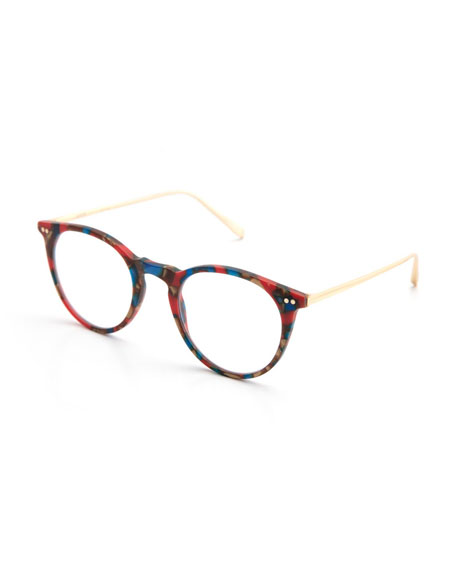 Royal Round Optical Frames, Matte Carnevale