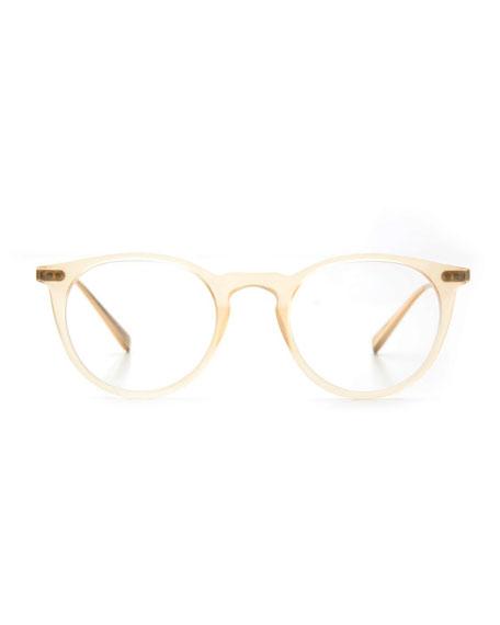Royal Round Optical Frames, Matte Champagne