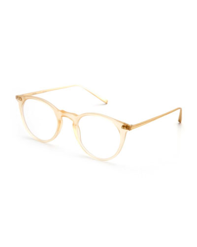 Royal Round Optical Frames, Matte Champagne