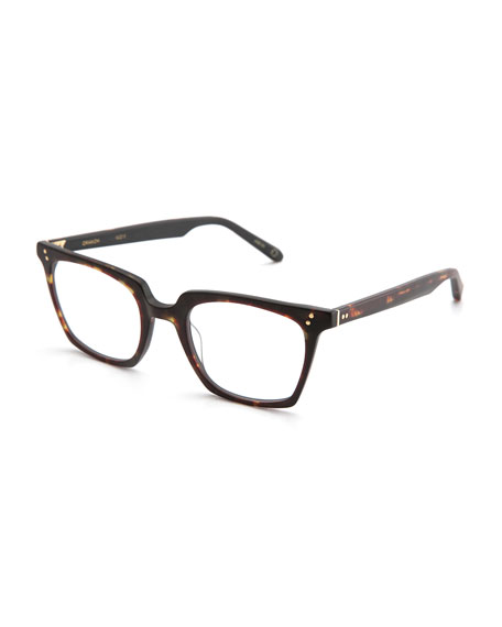 KREWE Howard Rectangular Optical Frames, Matte Sazerac