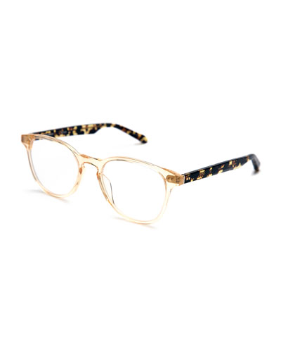 Perrier Square Optical Frames, Champagne