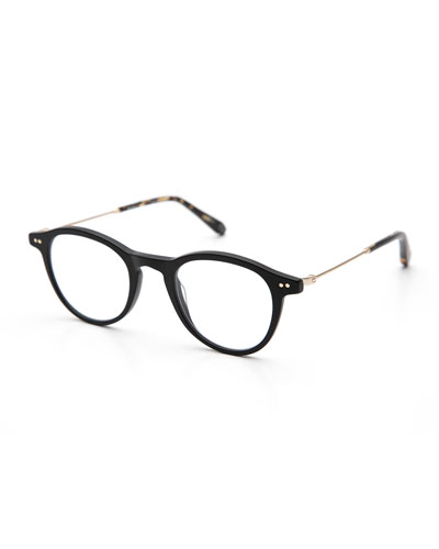 Claude Round Optical Frames, Matte Black