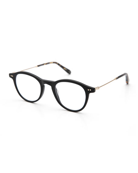 KREWE Claude Round Optical Frames, Matte Black
