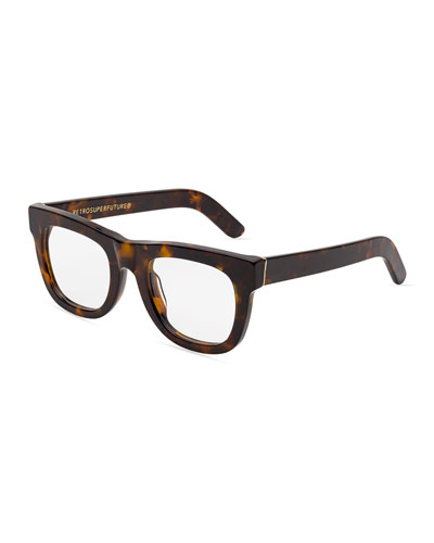 Ciccio Square Optical Frames, Brown Tortoise