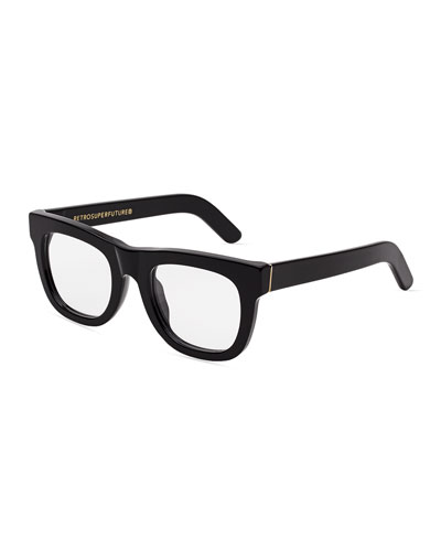 Ciccio Square Optical Frames, Black