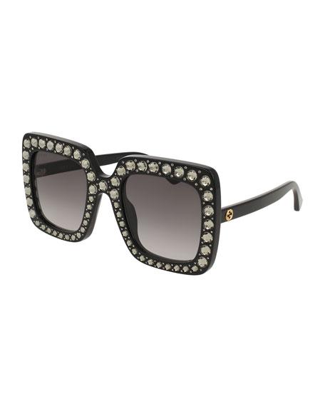 37343517ab Gucci Square Swarovski® Sunglasses