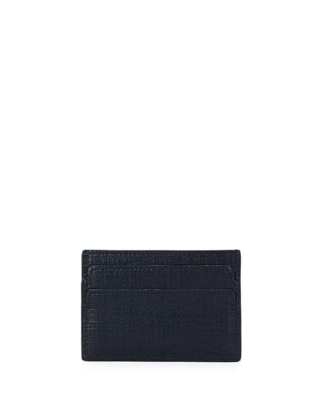 Skull Leather Card Case, Black