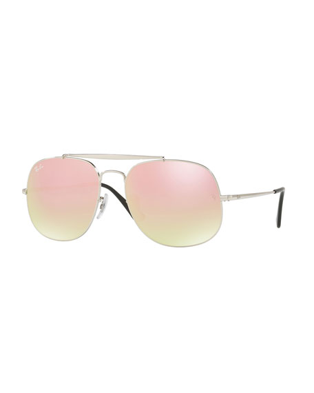 Ray-Ban The General Aviator Sunglasses, Gray