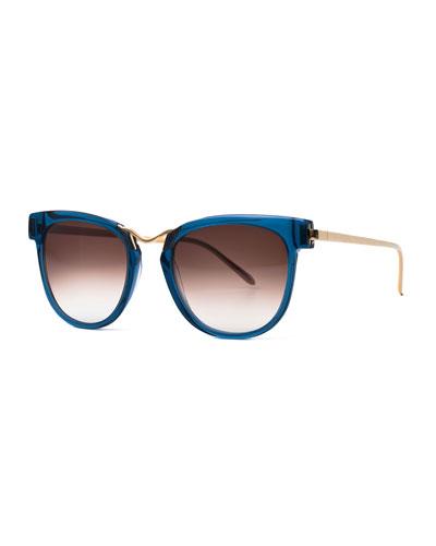 Choky Square Sunglasses, Blue