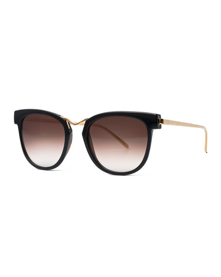 Choky Square Sunglasses, Black