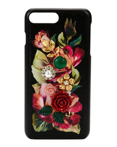 Dolce & Gabbana Floral Embellished iPhone 7+ Case,