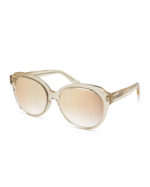 5e37479ef1 Barton Perreira Marvalette Mirrored Butterfly Sunglasses