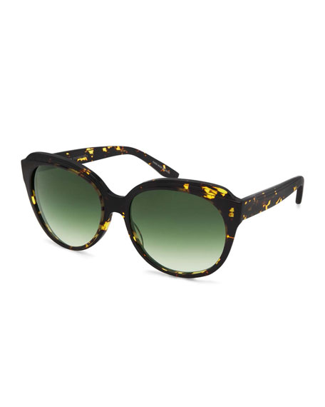 Barton Perreira Marvalette Butterfly Sunglasses, Heroine Chic/Julep