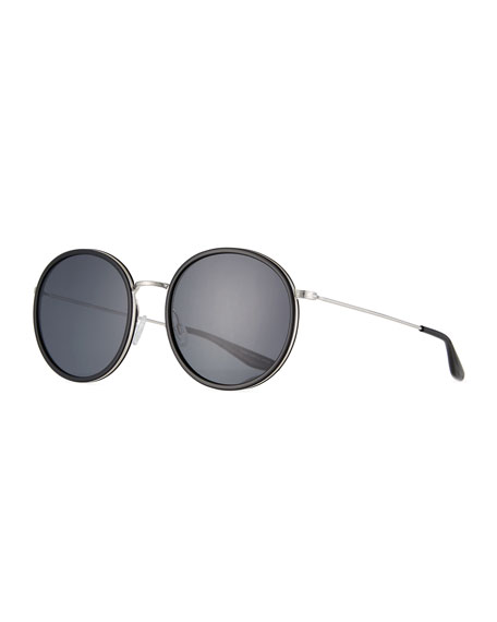 Barton Perreira Joplin 2 Round Metal-Rim Sunglasses